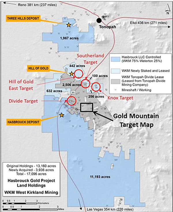 Hasbrouck Gold Project Land Holdings